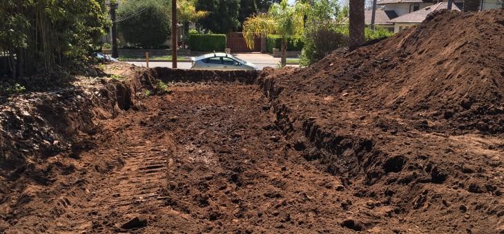 The beginning of excavation