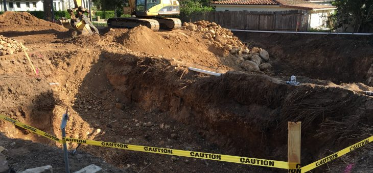 More excavation, lots of rocks