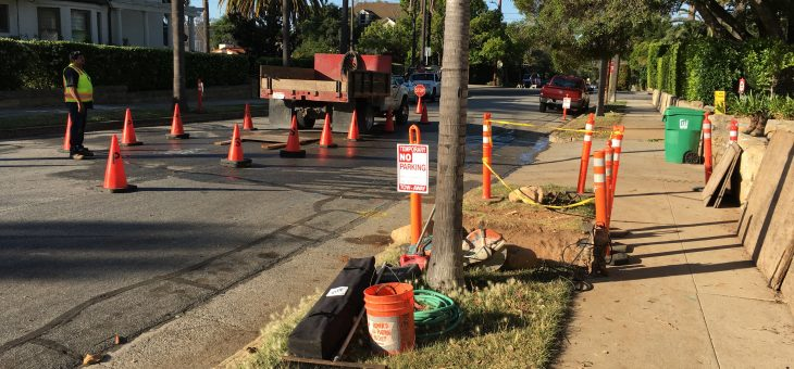 Moving the old sewer line