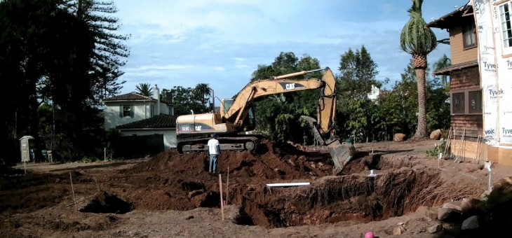 Excavation is in full force