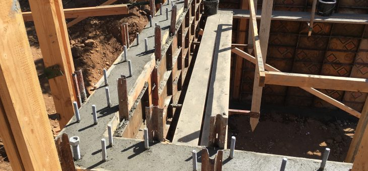 Pouring the basement walls