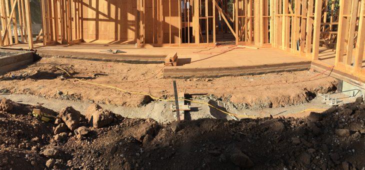 First floor framing & concrete interlock