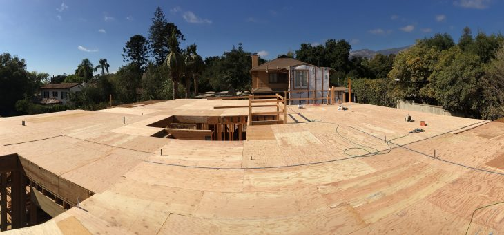 Second floor sheathing