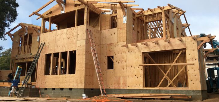 Sheathing the house, craftsman style, and more rain