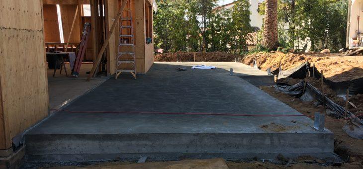 The last bit of concrete, at last
