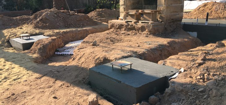 Pool house foundation