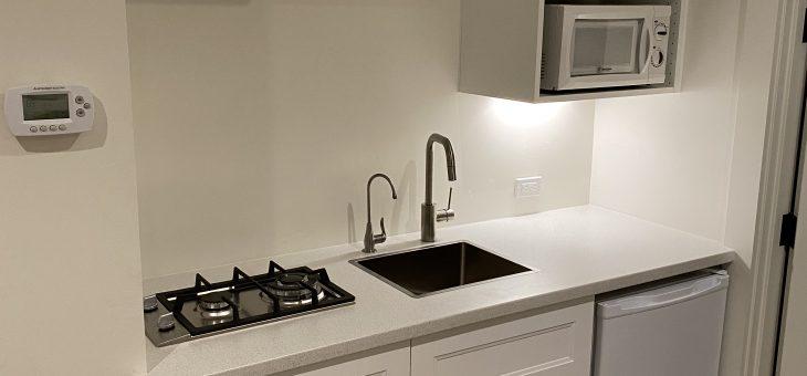 Basement guest room kitchenette